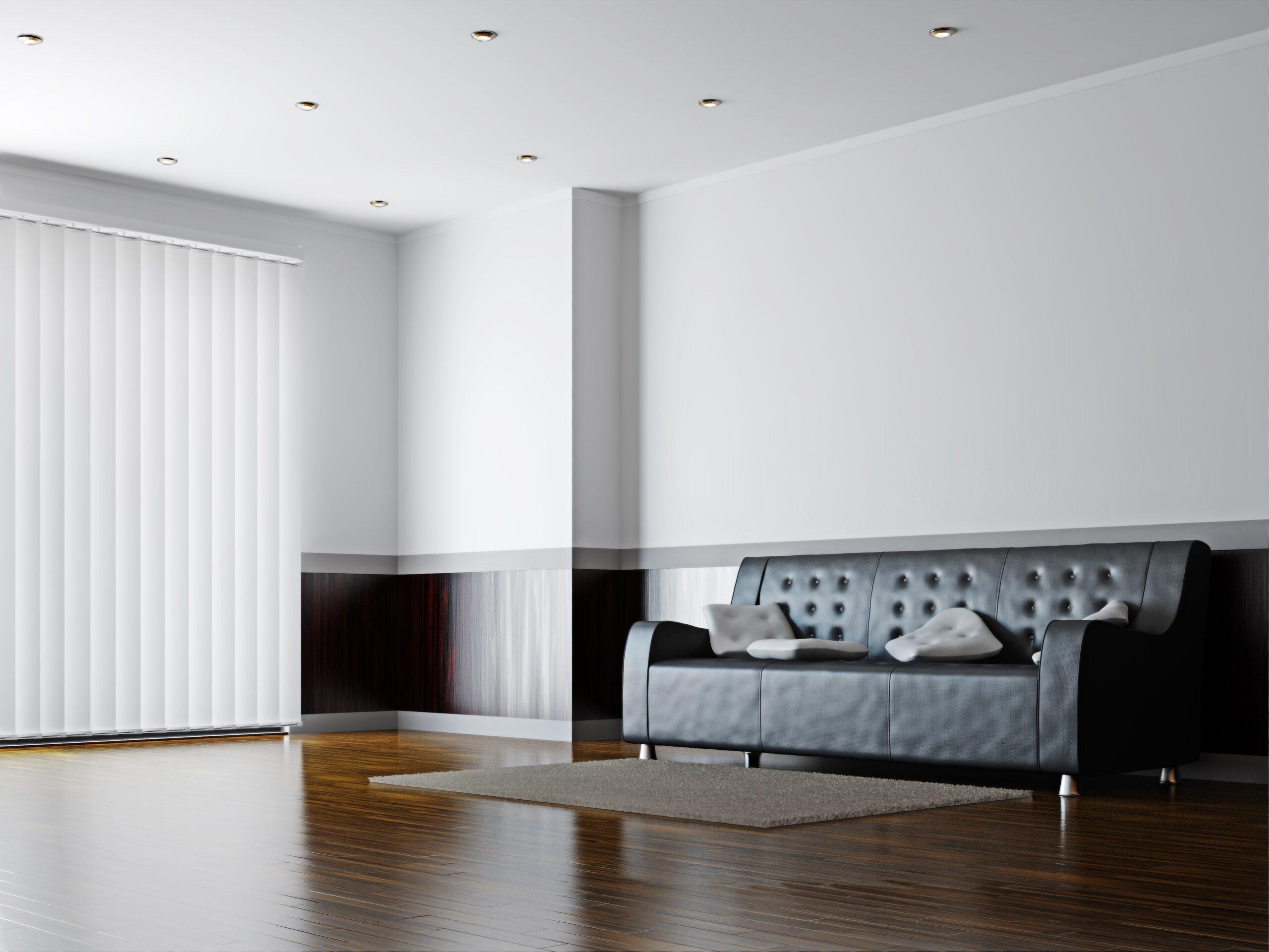 Hochwertiger Sonnenschutz, Sichtschutz und Lichtschutz - Lamellenvorhang - Senkrechtlamellen - Lamellenvorhang im Wartebereich - Dr. Haller + Co. - Selastore®