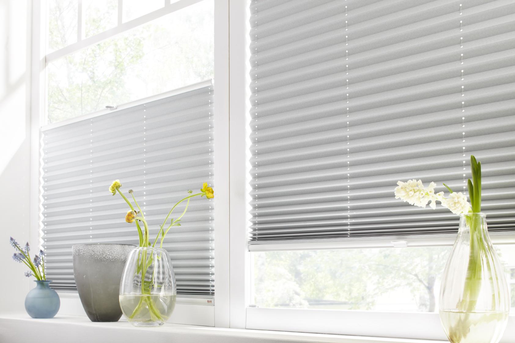 Hochwertiger Sonnenschutz, Sichtschutz und Lichtschutz - Grünes Plissee - Plisseerollo - Dr. Haller + Co. - Selastore®