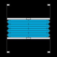 Verspanntes Plissee frei verschiebbar (Plisseetyp P1615)