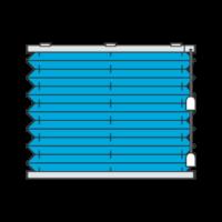 Freihängendes Plissee mit Schnurzug von oben nach unten laufend (Plisseetyp P1700)