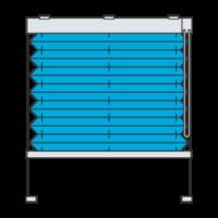 Verspanntes Plissee mit Kettenzug (Plisseetyp 1805)
